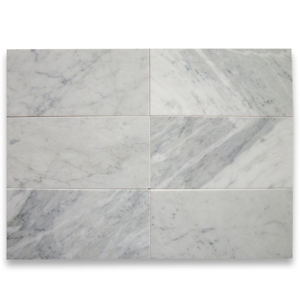 - Carrara White Marble Tile (6×12 Subway )Honed – Mosaic Tiles Online