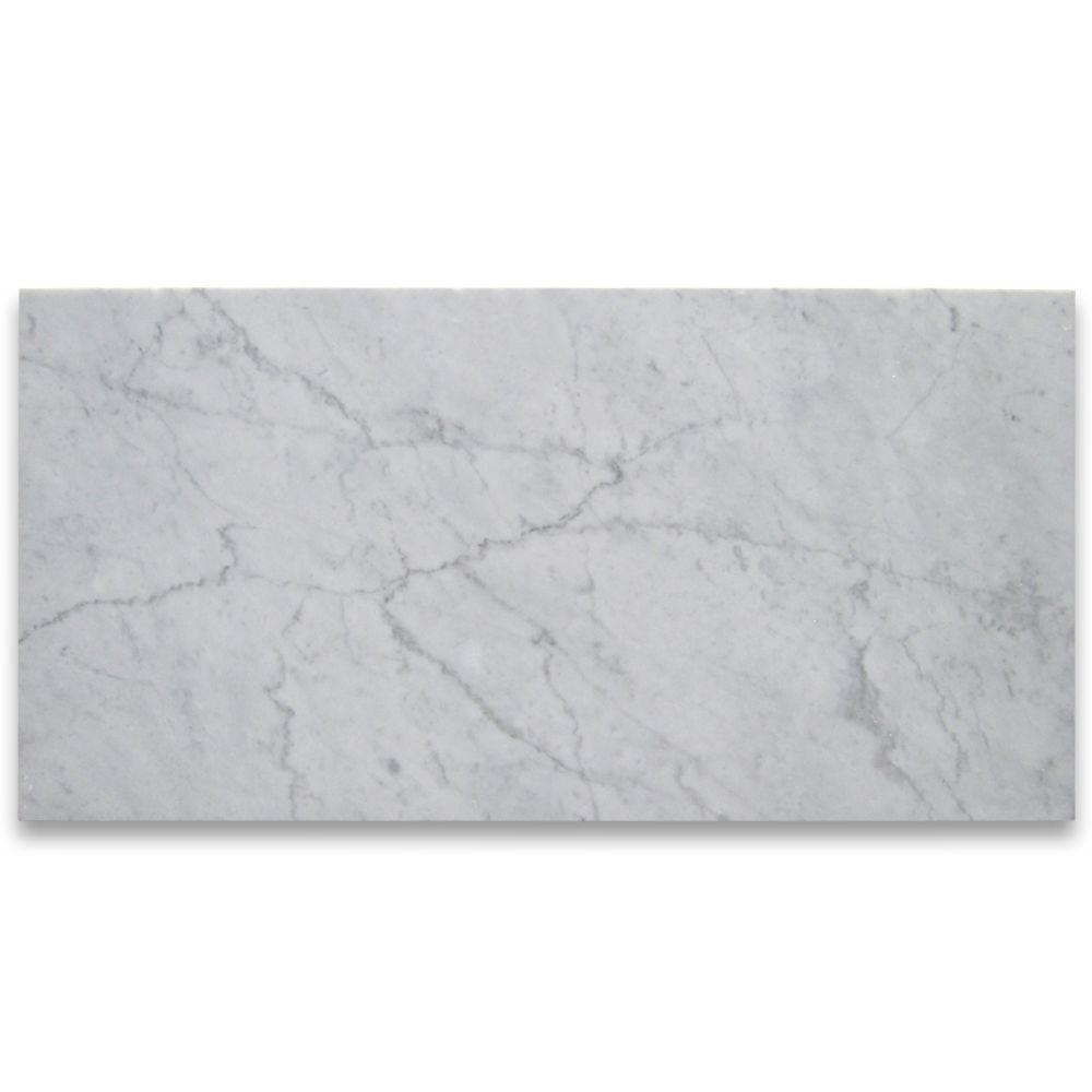 Carrara White Marble Tile 12 24