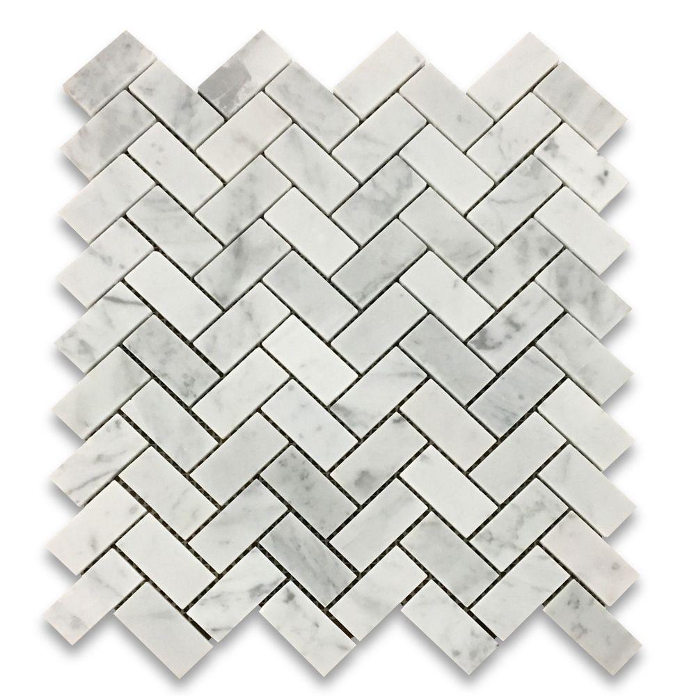 2 Herringbone Mosaic Tile Honed