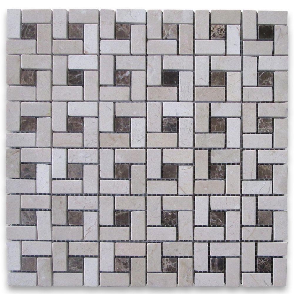 Crema Marfil Target Pinwheel Mosaic